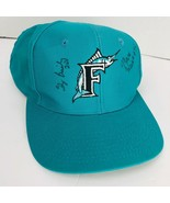 Florida Marlins Baseball Hat 1993 Inaugural Autographed Briley  Perez Weiss - $49.49
