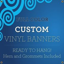 NEW 8'x17' Custom Full Color Vinyl Banners Indoor/Outdoor Personalized Banners w - $339.27