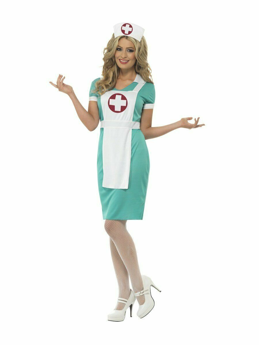 Smiffys Scrub Er Infermiere Ospedale Uniforme Donne Adulte Costume Halloween