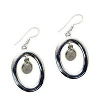 splendiferous Rainbow Moonstone Sterling Silver White Earring Natural je... - $11.87
