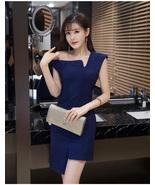 PF251 sexy single/slopping shoulder asymmetrical blouse  size s-xl, NAVY - $18.80