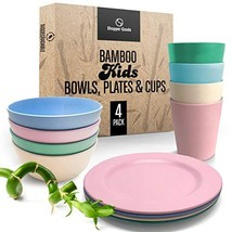 Shopper Goods Bamboo Toddler Cups, Bowls & Plate Set Multi-Color | Eco-F... - $53.65