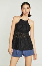 New Bcbg Maxazria Women Blouse KVW1Y468-001 042018 Black S Msrp - $34.44