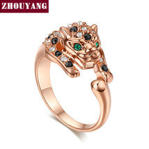 Top Quality ZYR074 Leopard Rose Gold Color Ring Crystals From Austria Full - $18.20