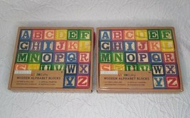 **Set of 2** Learn & Play Wooden Alphabet Blocks, 26 Count (52 Total) - $21.97