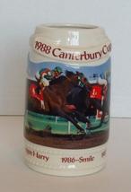 Vintage 1988 Canterbury Cup Stein Mug Canterbury Downs  - $14.99