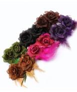 "Two piece glittering flower hair clip 2.5"" feat... - $8.79"