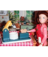 Fisher Price Loving Family Dollhouse Toaster & Mixer Vintage Play Food P... - $8.90