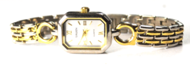 Women's Gruen Quartz Silver Roman Dial Rectangle Wristwatch 17mm GU2097-040 - $19.79
