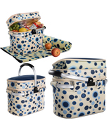 Aluminum framed picnic cooler basket for 4 persons 1001 Blue - $1.412,74 MXN