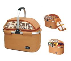 Aluminum framed picnic cooler basket for 4 persons 1001 Brown - $75.00