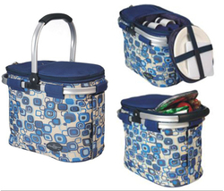 Aluminum framed picnic cooler basket for 2 persons 1002 Blue - €53,03 EUR