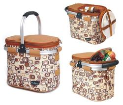 Aluminum framed picnic cooler basket for 2 persons 1002 Brown - €53,03 EUR