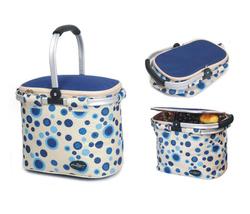Aluminum framed picnic cooler basket 1003 Blue - $36.00