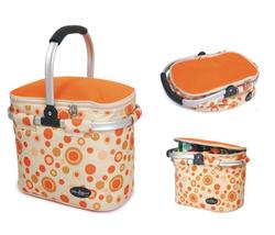 Aluminum framed picnic cooler basket 1003 Orange - $36.00
