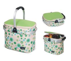 Aluminum framed picnic cooler basket 1003 Green - €29,37 EUR