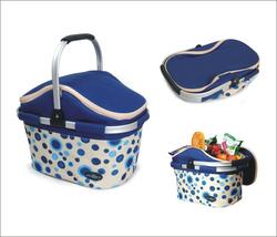 Aluminum framed picnic cooler basket 1004 Blue - €31,00 EUR