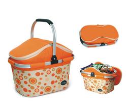 Aluminum framed picnic cooler basket 1004 Orange - $38.00