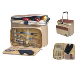 Aluminum framed picnic cooler basket with BBQ set 1005 - €56,30 EUR
