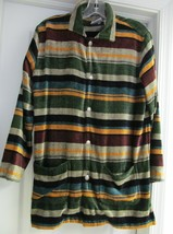 Chico's Velour Jacket Coat Top Washable Rayon Southwest Style Women's Si... - $29.95
