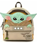 Loungefly Star Wars Mandalorian Child Baby Yoda Cradle Mini Backpack STB... - £61.73 GBP