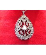NOLAN MILLER'S FANCY SCROLL PENDENT & CHAIN (NEW) - $30.00