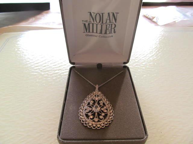 NOLAN MILLER'S FANCY SCROLL PENDENT & CHAIN (NEW)