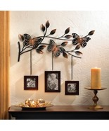 BUTTERFLY FRAMES WALL DECOR Photo Collage Metal Sculpture - $30.59