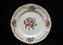 Old Vintage Bread & Butter Plate Homer Laughlin Fruit Floral Pattern Scalloped - $9.89