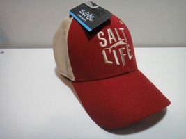 Salt Life Hat One Size Fits Most ( A- Flex ) Color Red & Tan  - $20.53