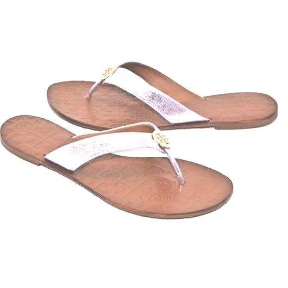 a1ca2400d45e70 Tory Burch Thora Reverse Metallic Leather Thong Sandals in Rosa Pink -   88.83 -  94.63