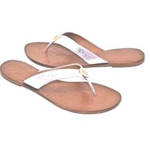 b02bfe385a836b Tory Burch Thora Reverse Metallic Leather Thong Sandals in Rosa Pink -   88.83+