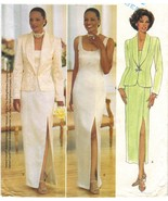 Misses New Years Xmas Formal Jacket Front Slit Evening Dress Sew Pattern... - $11.99