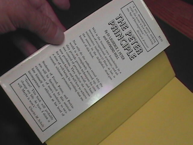 Peter Principle Why Things Go Wrong 1969 Dr Laurence J Peter Raymond Hull HCDJ