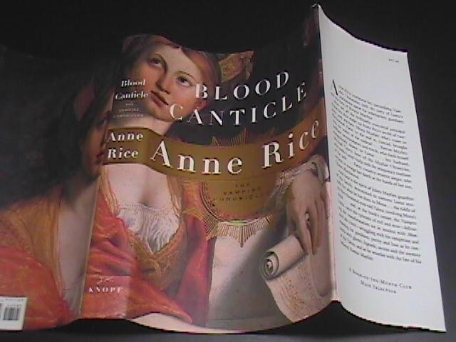 Book rice blood canticle 1st ed hcdj 01