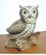 Six Vintage Ceramic Owl Figurines - $14.25