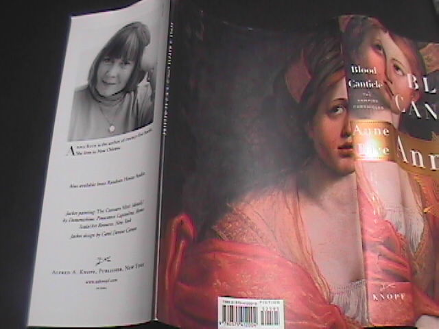 Anne Rice Blood Canticle 2003 Borzoi First Edition Hard Cover and Dust Jacket
