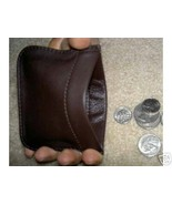 "NEW SOFT LEATHER ""SQUEEZE"" COIN PURSE RARE - UN... - $13.99"