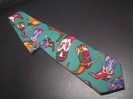 Ralph Marlin Neck Tie Western Theme Cotton Teal image 1