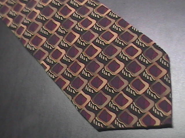 J Garcia Neck Tie Collection 14 Butterfly Trap 1996 Black with Maroons and Golds