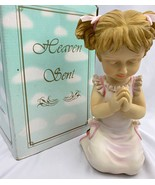 Praying Girl Figurine Praying Child In Prayer 2002 Heaven Sent DWK Chris... - $15.79