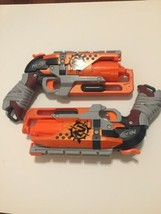 PAIR OF NERF ZOMBIE STRIKE HAMMERSHOT GUNS Clean Tested X2 - $24.75