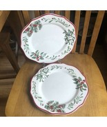Better Homes & Gardens Heritage Holly WINTER FOREST Dinner Plates Set of 2 - $39.60