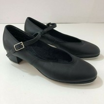CAPEZIO 450 Black Leather Teletone Tap Shoes Womens 7.5M NWOT - $39.29