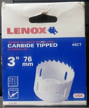 "Lenox 30248 48CT 3"" Carbide Tipped Bi-Metal Hole Saw USA - $23.76"