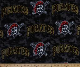 Pittsburgh Pirates MLB Baseball Sports Fleece Fabric Print by the Yard s6689bf - $12.97