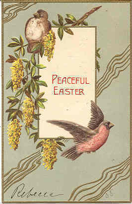 Easter Wishes To Ms Stella Hawk Vintage 1906 Post Card