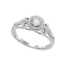 10k White Gold Round Diamond Bridal Wedding Engagement Anniversary Ring ... - £508.32 GBP