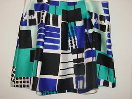 Lane Bryant black white blue short skirt satin geometric colorblock-28 4X-NEW - $13.96