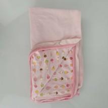 Vintage Baby Gap Girl Pink Cotton Ice Cream Cone Cotton Blanket Terry Towel - $79.19